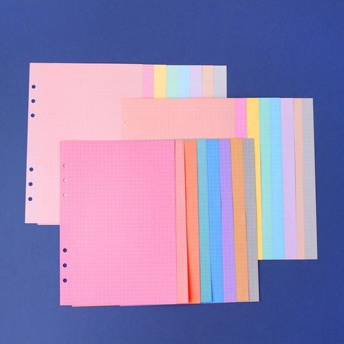 Wanna This Palette grid A5 size 6 holes paper refills set