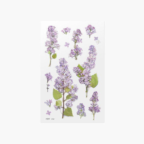 Appree Lilac pressed flower sticker
