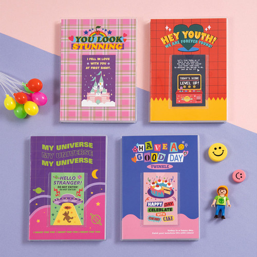 Ardium Kitsch small lined notebook with PVC cover