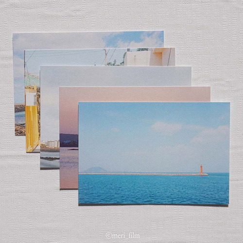 Meri Film Jeju island view photo postcard 5 sheets set