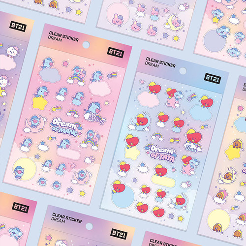 BT21 Dream baby pastel clear sticker
