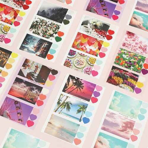 ICIEL Daily photo heart paper sticker