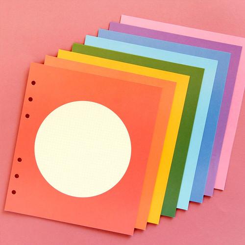 Color circle - Jam Studio Circle grid wide A6 6 ring notepaper refill set