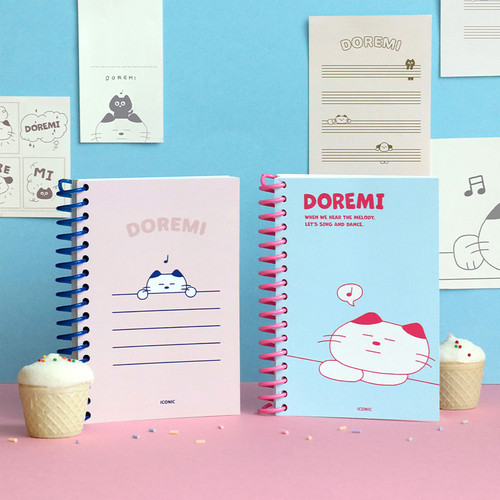 ICONIC Doremi A6 size spiral bound notebook