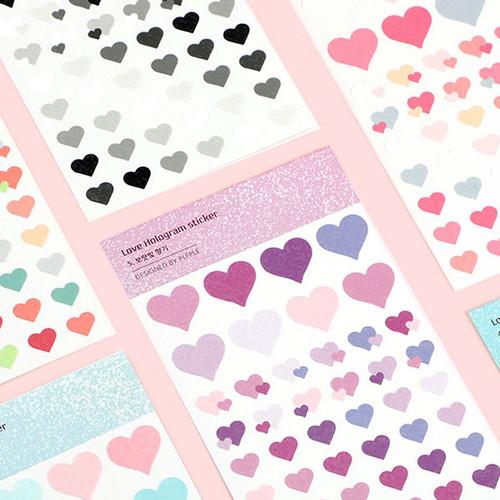 PLEPLE Love glitter removable deco sticker seal