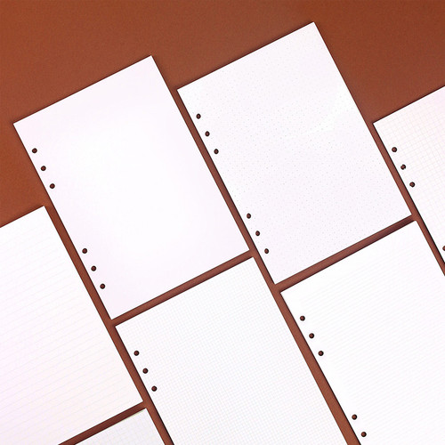 Wanna This Notebook refill papers for A5 size 6 ring binder