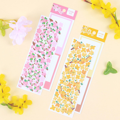 Wanna This Forest's spring flowers paper sticker