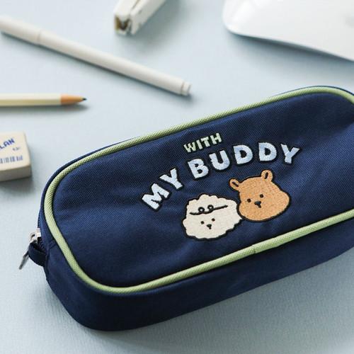 Dailylike With My Buddy zipper pencil case pouch