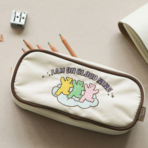 Dailylike Jelly bear zipper pencil case pouch