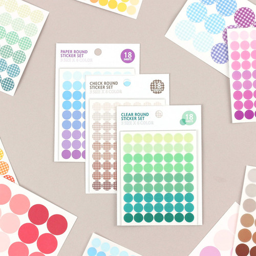 Wanna This Colorful circle deco sticker set