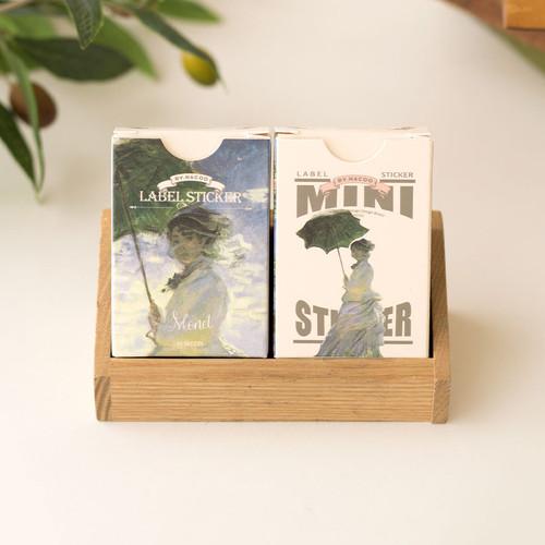 Mini - Monet label and mini sticker set