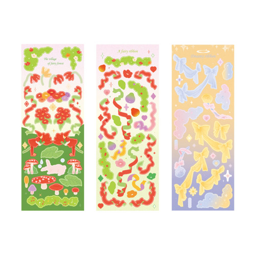 After The Rain Fairy Forest Day and Night Sticker Seal