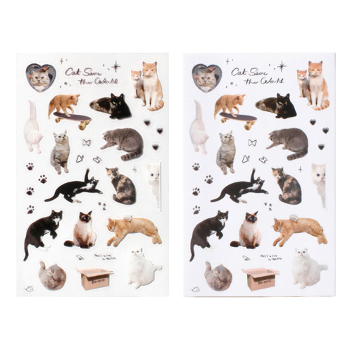 After The Rain Object Cat Save The World Sticker Set