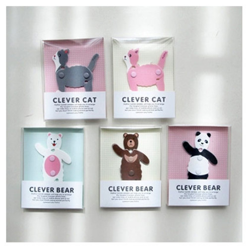 Clever animal earphone organizer