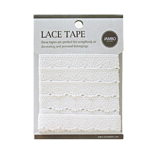 Adhesive cotton lace tape M beige - 02