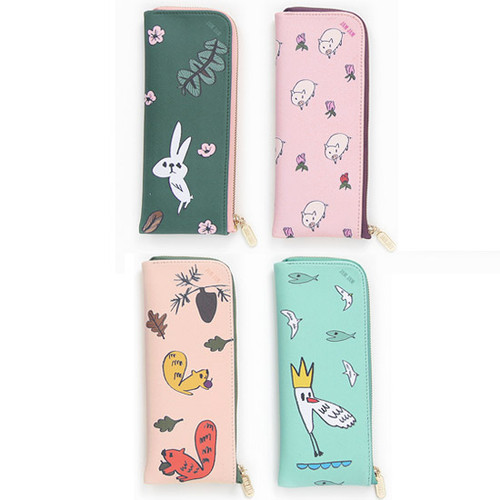 Jam Jam cute illustration zip pencil case
