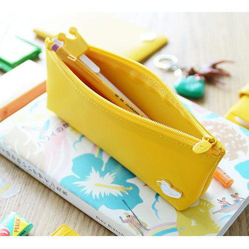 Yellow deep - Vivid Jam zipper pencil case