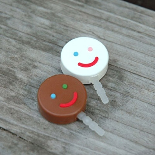 Smile earphone dust plug clean cap