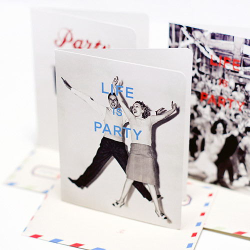 Life is party vintage card and envelope set