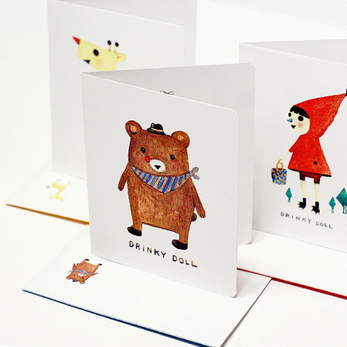 Drinky doll woodland card and envelope set