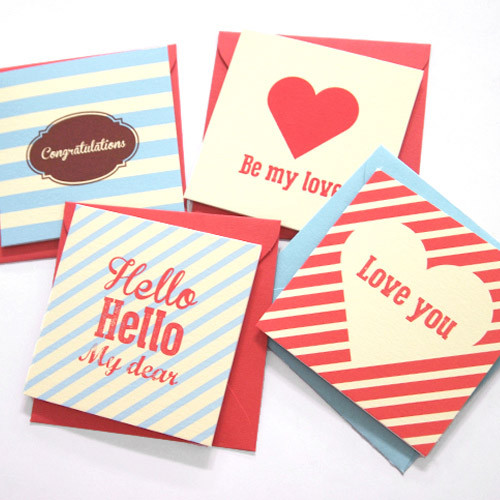 Lovely pattern message card set