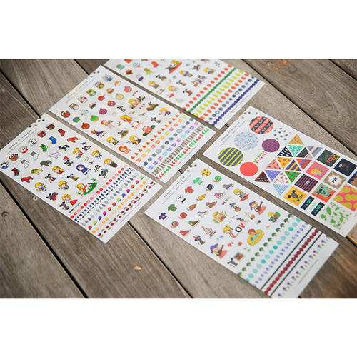 Scandinavia deco sticker set of 5 sheets