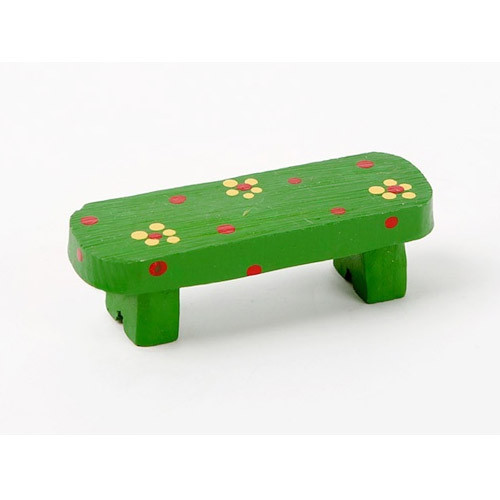 Decorative cute resin chair green bench