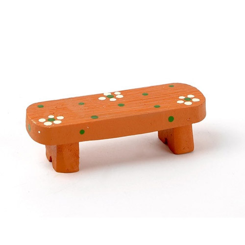 Decorative cute resin chair brown bench