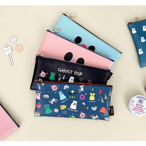 Ghost pop cute illustration zipper pouch S