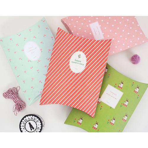 Patterned gift paper bag medium set ver.2