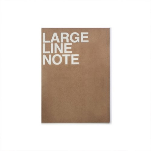 Thread stitching large lined notebook