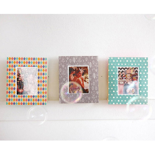 Pattern photo frame message card