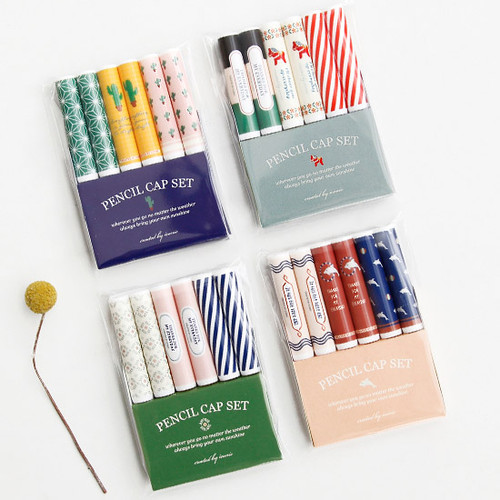 Unique colorful pencil cap set ver.2
