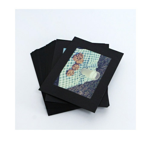 3X5 Black paper photo frame set of 30 sheets