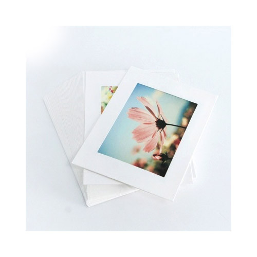3X5 White paper photo frame set of 30 sheets