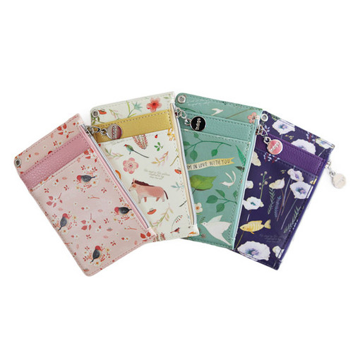 Willow story illustration pattern flat card holder case