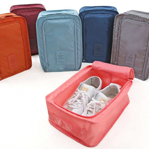 Travel zip shoes pouch bag
