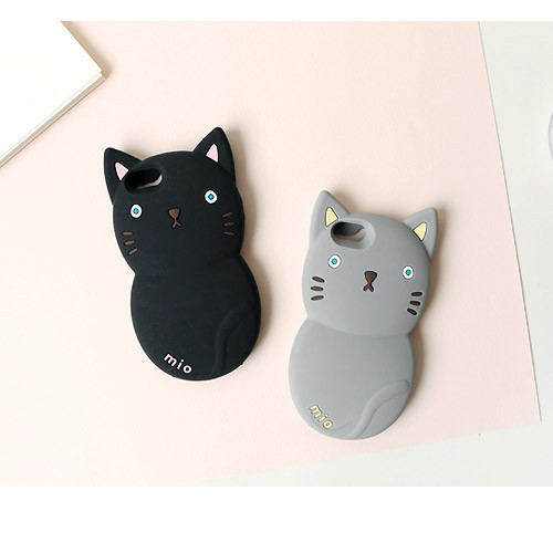Monomate cute cat iPhone 5/5S jelly case