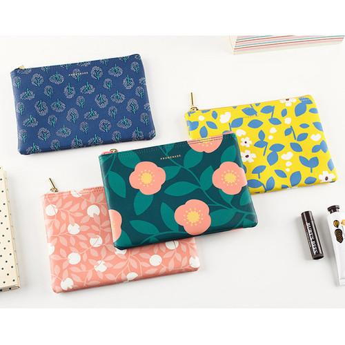 Promenade flower pattern daily pouch