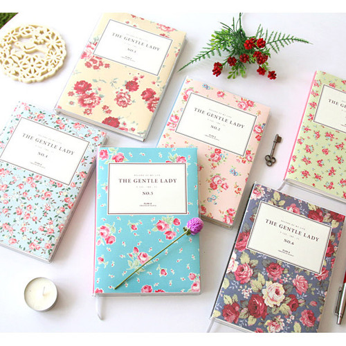 2015 PlanD The gentle lady flower undated diary