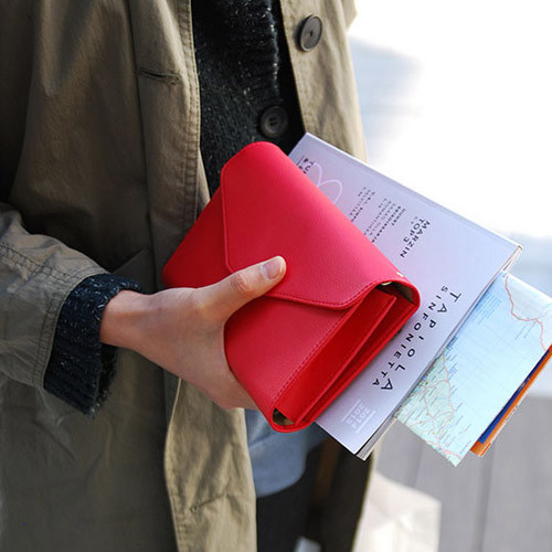 Strawberry red - Happy holiday clutch wallet