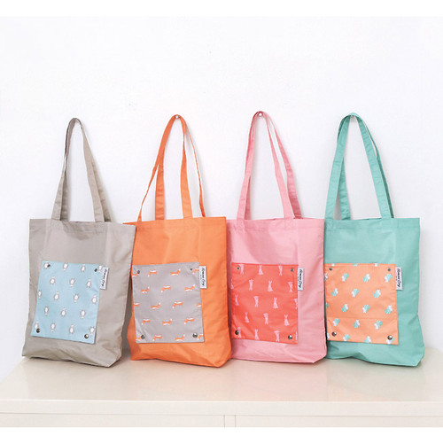 Mr.wood pocket foldable eco tote bag