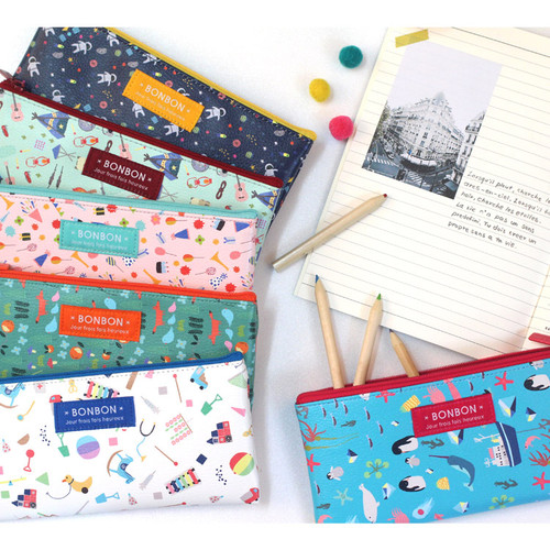 Bon Bon pattern zipper pencil case