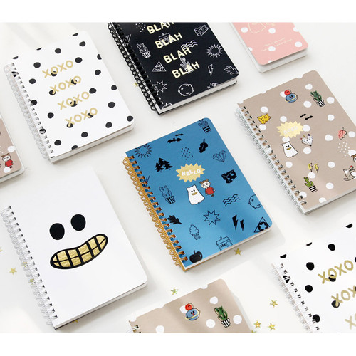 Ghost pop wirebound medium lined notepad