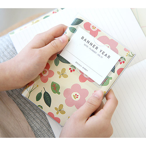 Breezy windy flower pattern lined notebook