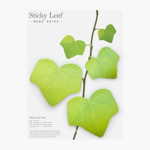 Ivy leaf green sticky memo notes Large