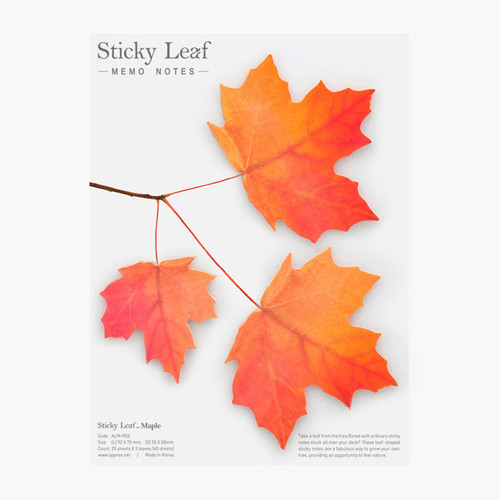 Maple leaf red sticky memo notes Large