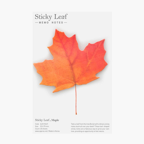 Maple leaf red sticky memo notes Medium