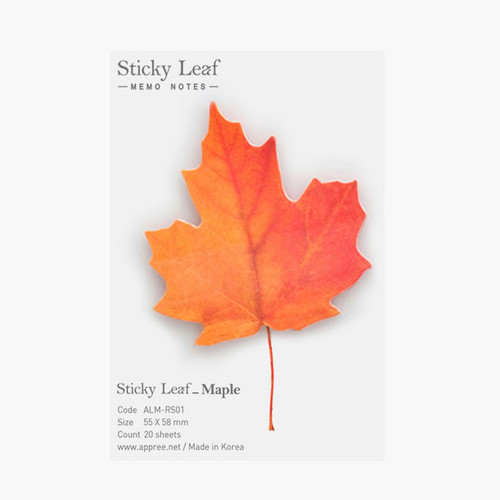 Maple leaf red sticky memo notes Small