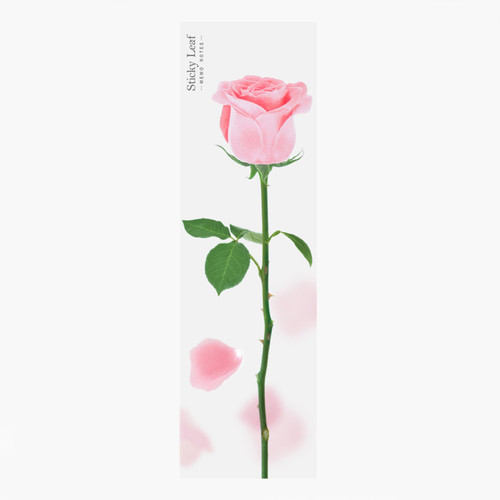 Appree Pink rose sticky memo notes